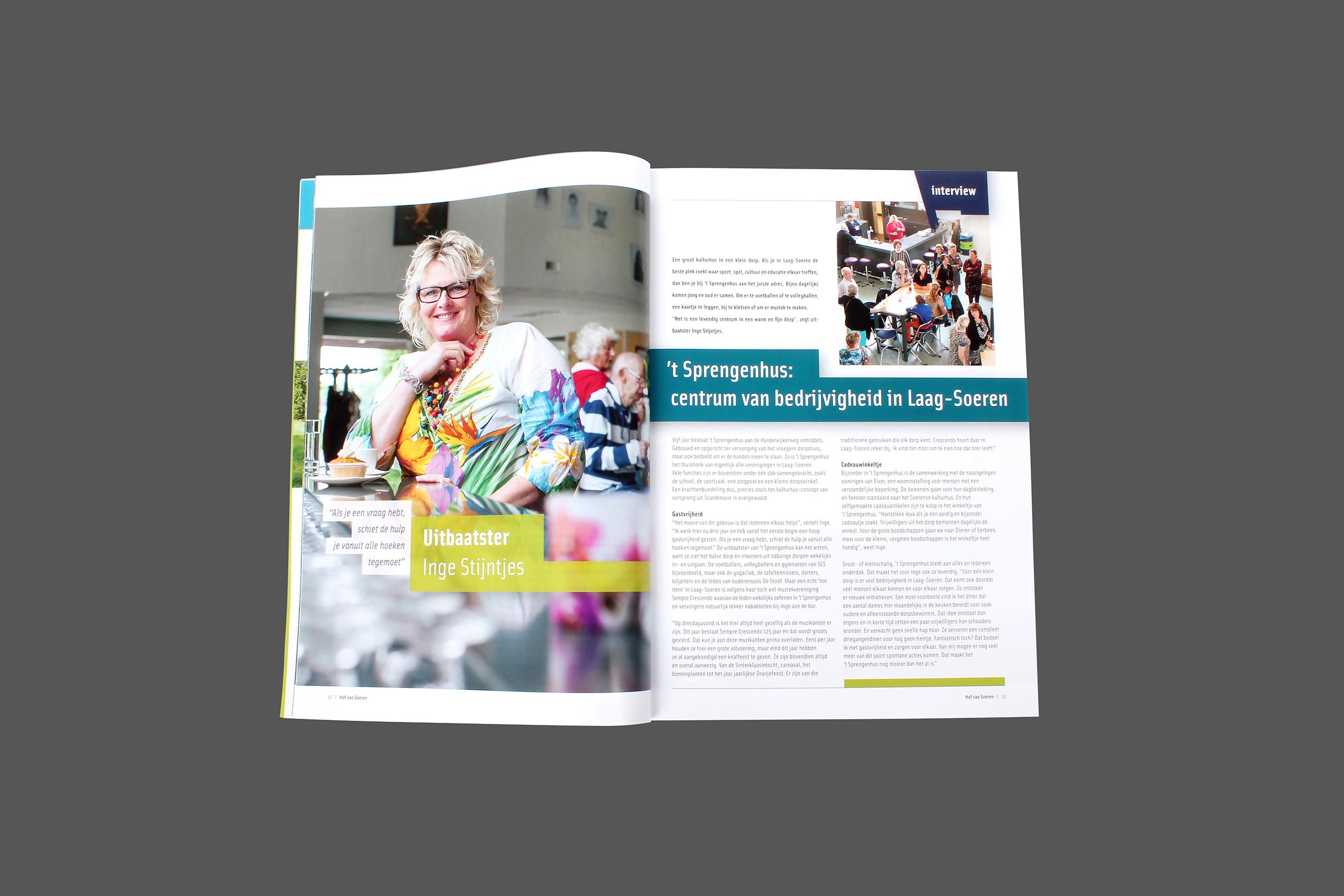 Cover, magazine, Hof van Soeren. Ontwerp en concept Neo & Co
