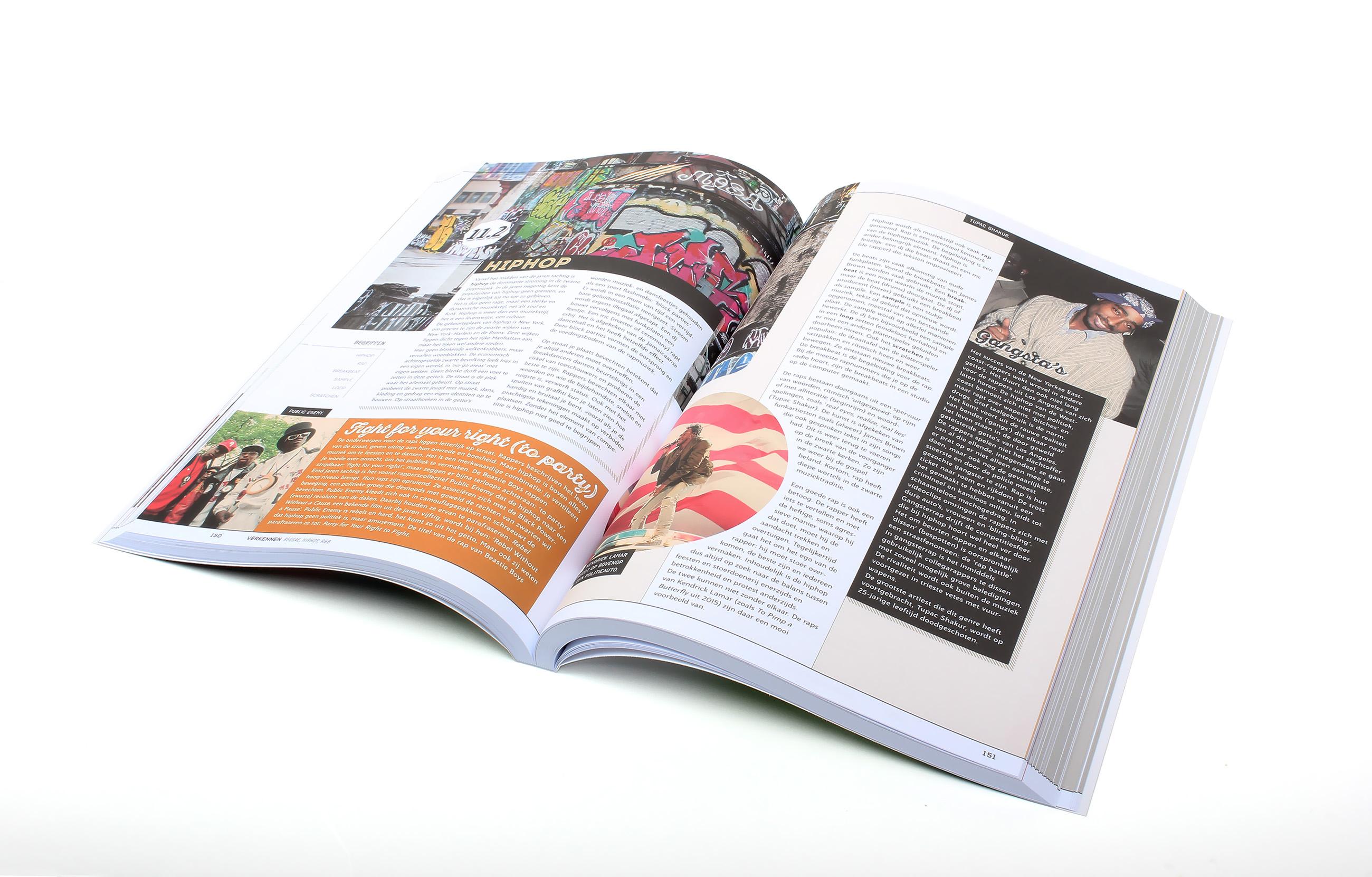 ThiemeMeulenhoff Intro boek opengeslagen. Ontwerp en opmaak door Neo & Co.