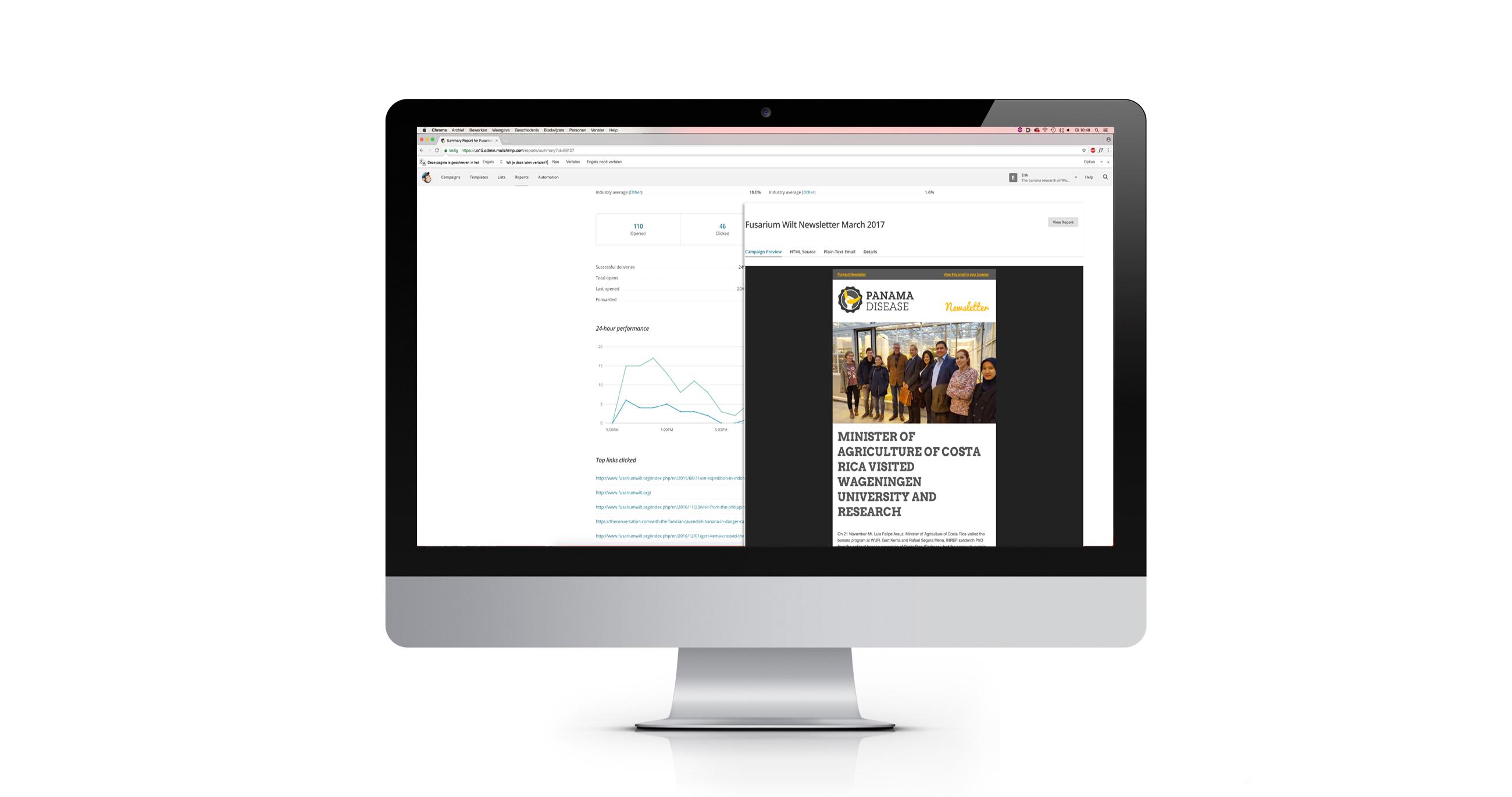 Digitale nieuwsbrief in MailChimp