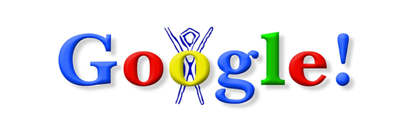 Google doodles: burning man