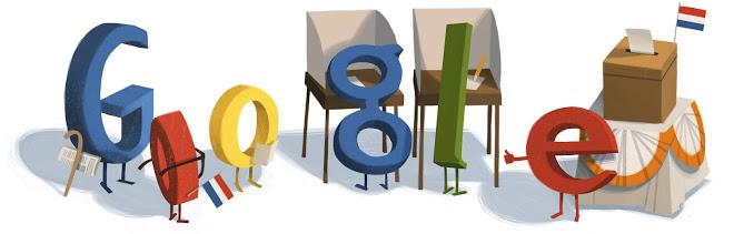 google doodle: verkiezingsdag