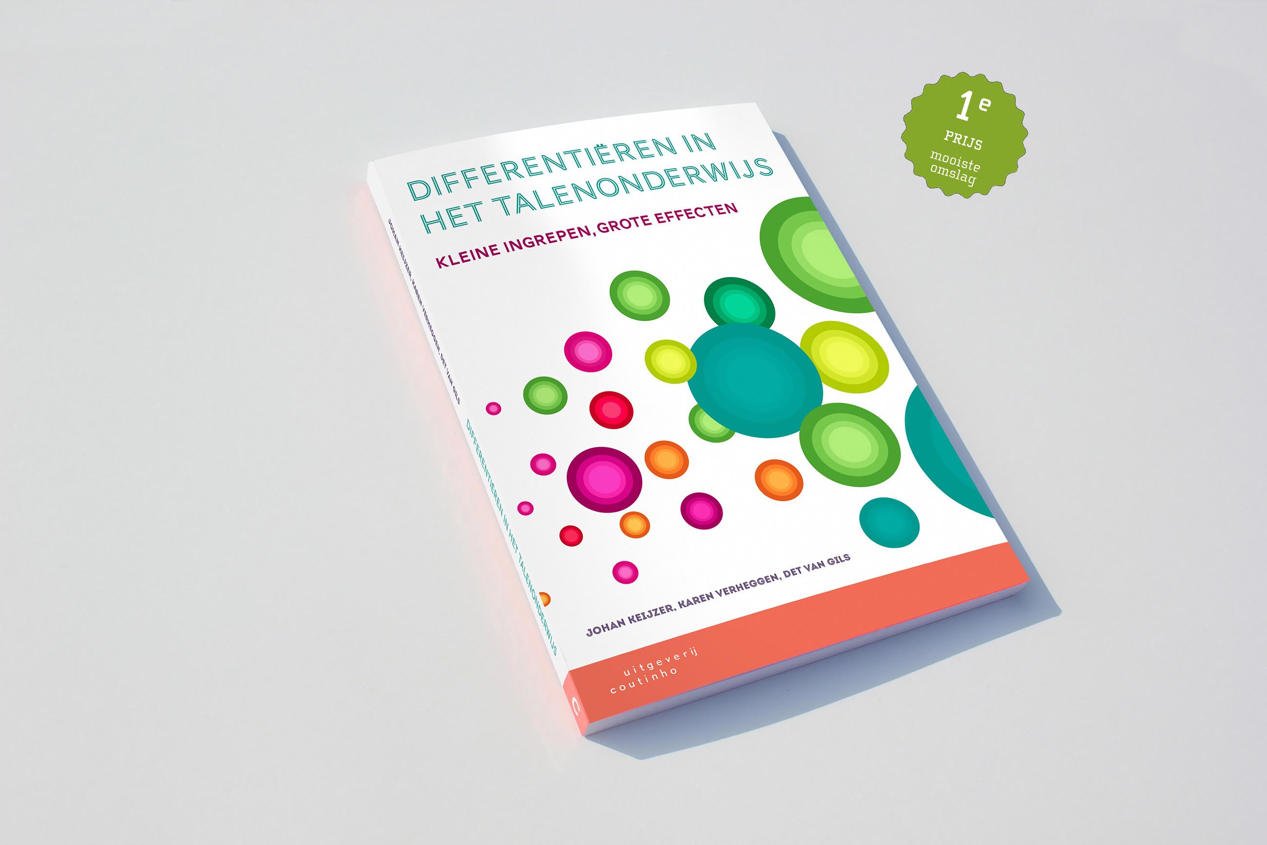Boekomslag, Differentiëren in talenonderwijs, Coutinho, grafisch ontwerp Neo & Co